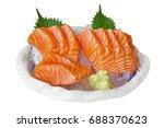 salmon sashimi  japanese food.... | Shutterstock . vector #688370623