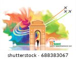 india independence day   Shutterstock .eps vector #688383067