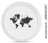 world map icon. | Shutterstock .eps vector #688400287