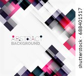 abstract vector blocks template ...   Shutterstock .eps vector #688401517
