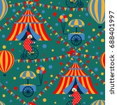 circus seamless pattern with... | Shutterstock .eps vector #688401997
