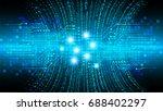 future technology  blue cyber... | Shutterstock .eps vector #688402297