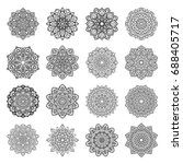 set of mandalas. ethnic... | Shutterstock .eps vector #688405717
