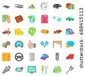 auto repair icons set. cartoon... | Shutterstock .eps vector #688415113