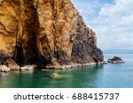 stones in the water  the rocks... | Shutterstock . vector #688415737