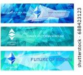 ethereum cripto currency... | Shutterstock .eps vector #688423123
