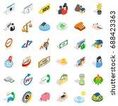 call center icons set....   Shutterstock .eps vector #688423363