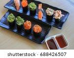 sushi rice mold wasabi japanese ... | Shutterstock . vector #688426507