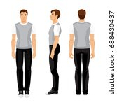 vector illustration of young... | Shutterstock .eps vector #688430437