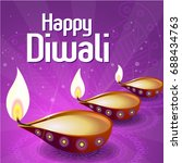 happy diwali vector ... | Shutterstock .eps vector #688434763
