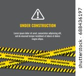 under construction website page ... | Shutterstock .eps vector #688436197