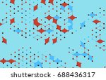 vector abstract boxes... | Shutterstock .eps vector #688436317
