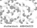 vector abstract boxes... | Shutterstock .eps vector #688436323