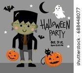 frankenstein  halloween | Shutterstock .eps vector #688448077