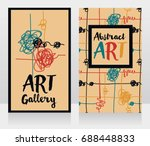 two cards for abstract art  can ... | Shutterstock .eps vector #688448833
