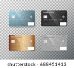 illustration of vector credit... | Shutterstock .eps vector #688451413