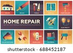 home repair process and tools   ... | Shutterstock .eps vector #688452187
