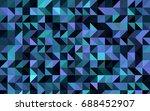 dark pink  blue vector shining... | Shutterstock .eps vector #688452907