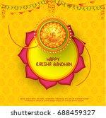 illustration greeting card of... | Shutterstock .eps vector #688459327