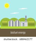 biofuel plant | Shutterstock .eps vector #688462177