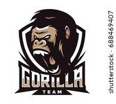 strong gorilla   vector logo  ... | Shutterstock .eps vector #688469407
