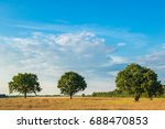 rural landscape with three... | Shutterstock . vector #688470853