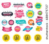 sale shopping banners. money... | Shutterstock .eps vector #688475737