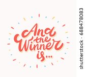 and the winner is... vector... | Shutterstock .eps vector #688478083