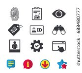 identity id card badge icons....