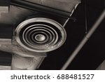 dirty dusty factory interior... | Shutterstock . vector #688481527