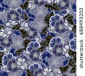 vintage seamless pattern with... | Shutterstock .eps vector #688493203