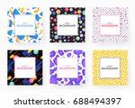 covers with geometric design.... | Shutterstock .eps vector #688494397