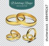 gold vector wedding rings... | Shutterstock .eps vector #688498267