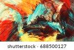 bright artistic heat splashes.... | Shutterstock . vector #688500127