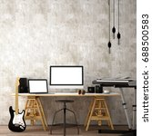 working space interior design... | Shutterstock . vector #688500583