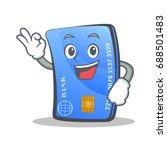 okay credit card character... | Shutterstock .eps vector #688501483