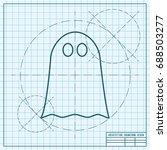 vector flat halloween icon.... | Shutterstock .eps vector #688503277