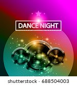 disco dance art design poster... | Shutterstock .eps vector #688504003