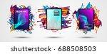 futuristic frame art design... | Shutterstock .eps vector #688508503