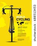 cycling poster vector...   Shutterstock .eps vector #688513453