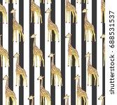 giraffe pattern  vector ... | Shutterstock .eps vector #688531537
