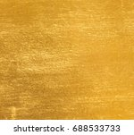 shiny yellow leaf gold foil... | Shutterstock . vector #688533733