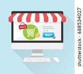 online store concept on... | Shutterstock .eps vector #688534027