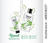 aloe vera skin care ads on... | Shutterstock .eps vector #688538257