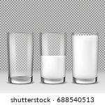 set of vector realistic... | Shutterstock .eps vector #688540513