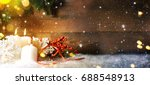 candels with christmas... | Shutterstock . vector #688548913