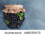 fresh blueberries like a jar...   Shutterstock . vector #688550473
