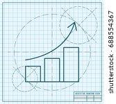 vector blueprint graph icon on... | Shutterstock .eps vector #688554367