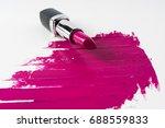 pink lipstick and lipstick...   Shutterstock . vector #688559833