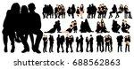 isolated  set family ... | Shutterstock .eps vector #688562863